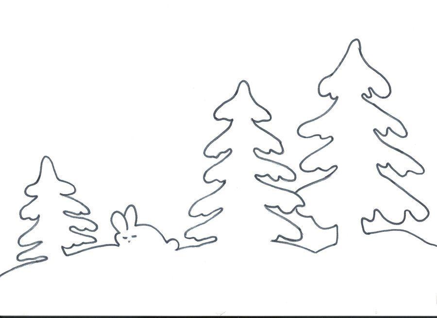 вытынанки зимние пейзажи шаблоны и схемы